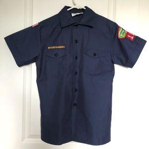 90s Boy Scouts Uniform Shirt Military Boho